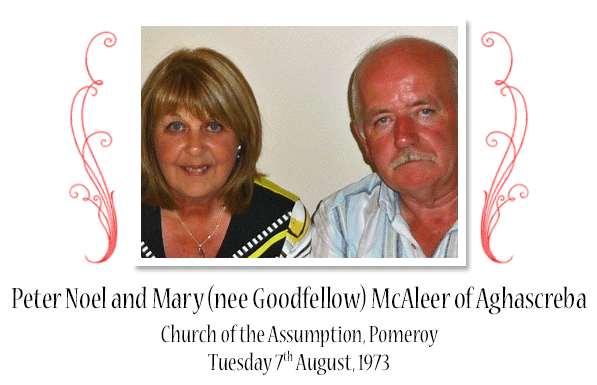 Peter Noel and Mary (nee Goodfellow) McAleer